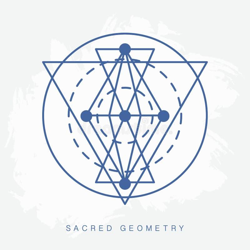 Священный знак геометрии иллюстрация штока
