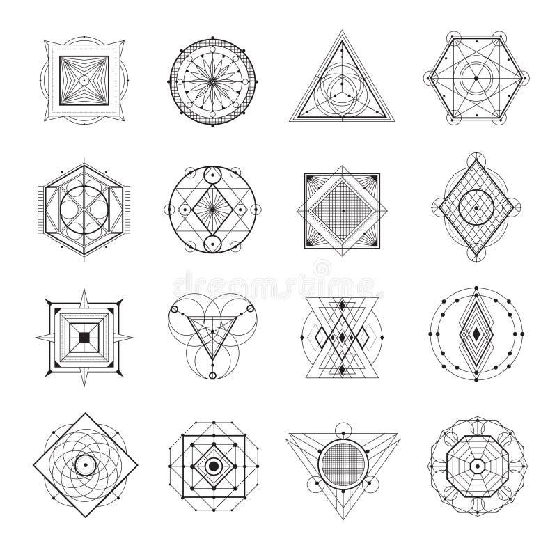 Священный комплект геометрии иллюстрация вектора