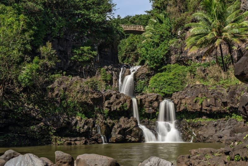 7 священных бассейнов Гана Мауи стоковая фотография rf