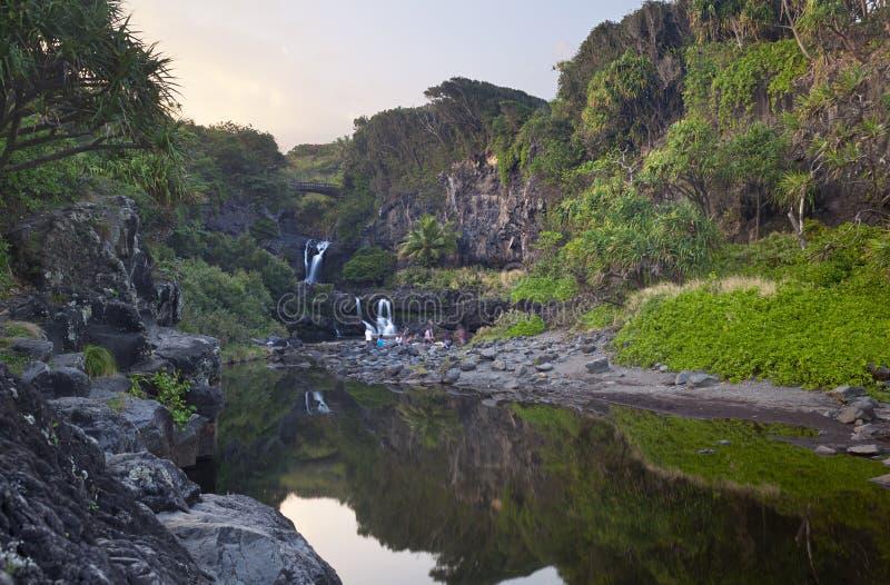 7 священных бассейнов, Мауи, Гаваи стоковое фото rf
