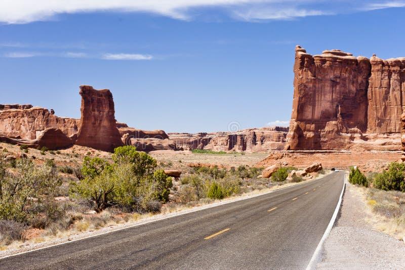 сгабривает дорогу национального парка стоковое изображение rf