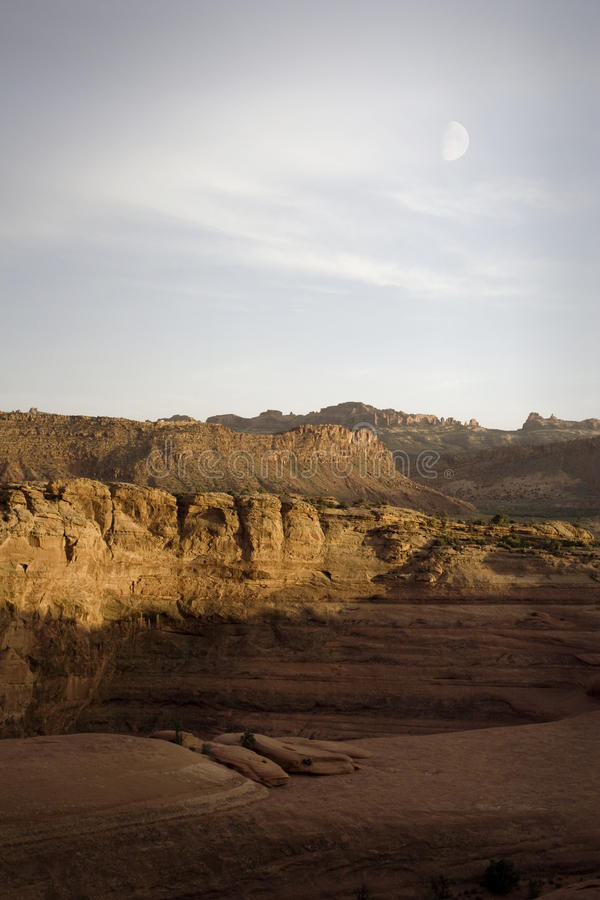 сгабривает луну np Юту moab canyonlands стоковое фото rf