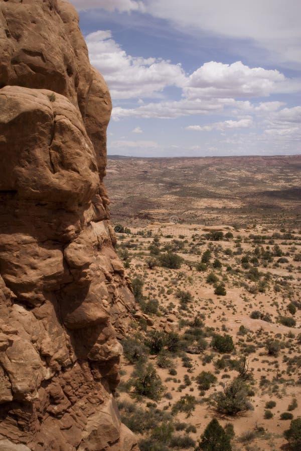сгабривает панораму Юту moab np canyonlands стоковое изображение