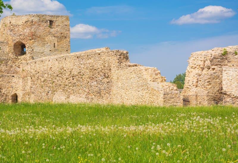 сгабривает стены rhodes монахов lindos острова ionitov Греции части крепости города стоковая фотография