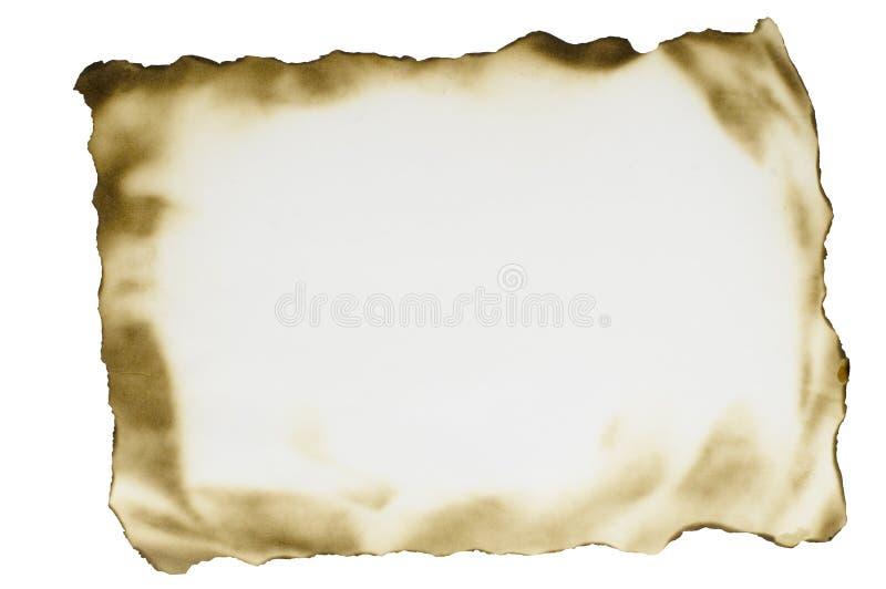 сгорели бумажный лист стоковое фото
