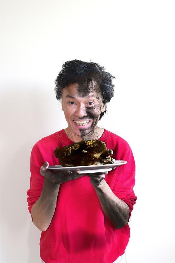 сгорели еда стоковая фотография rf
