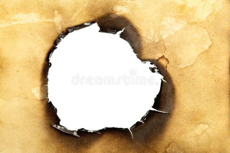 сгорели отверстие стоковые изображения rf