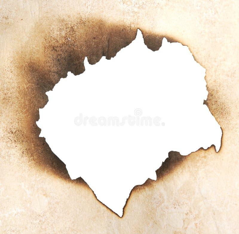 сгорели отверстие стоковая фотография rf