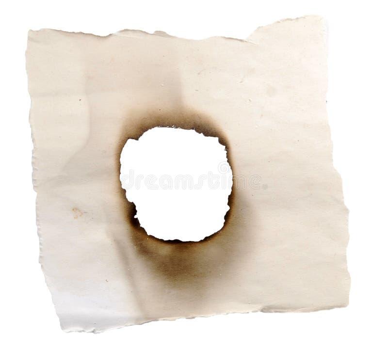 сгорели отверстие стоковое фото