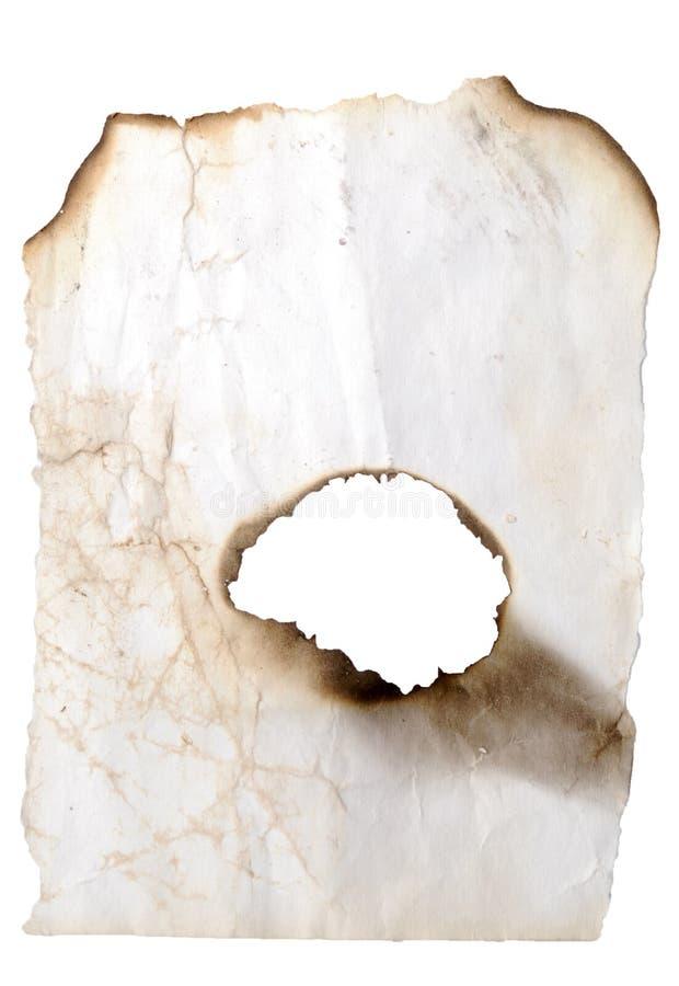 сгорели отверстие стоковые фотографии rf