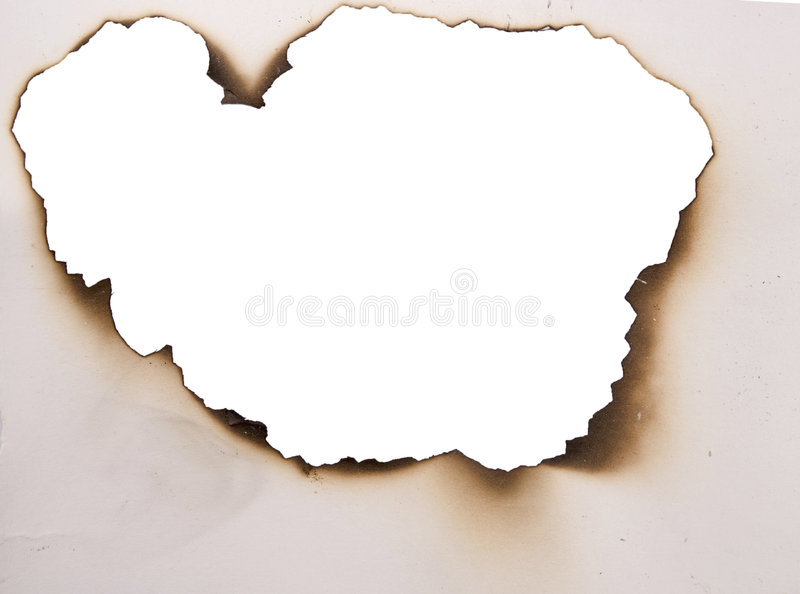 сгорели отверстие стоковые изображения