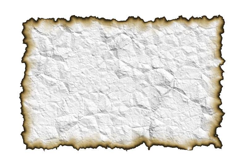 сгорели бумага краев старая стоковое изображение