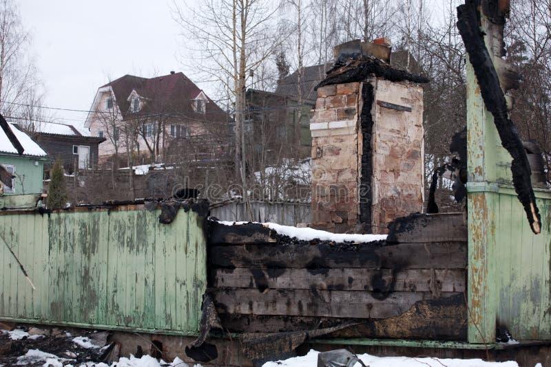 Сгорели руины стоковые фотографии rf