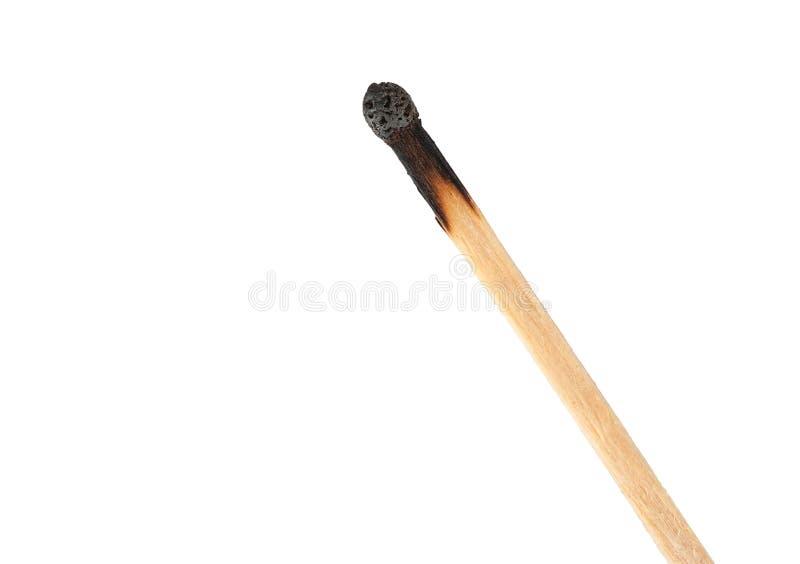 Сгорели спичка стоковая фотография