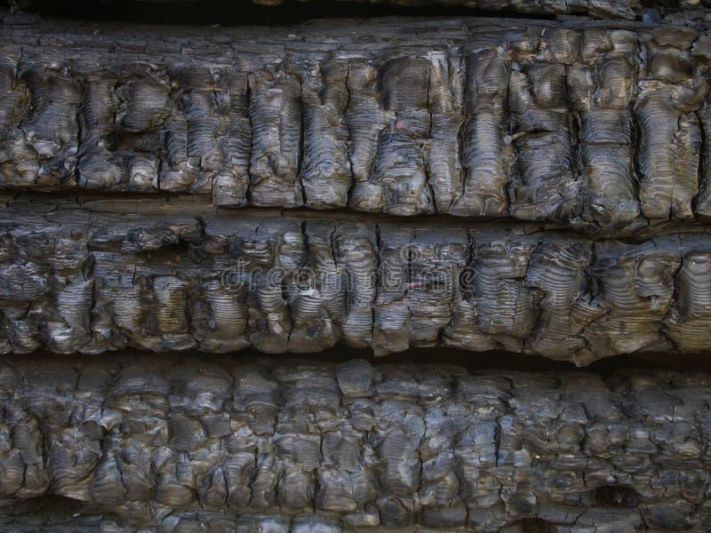 Сгорел доски огня деревянные стоковые фотографии rf