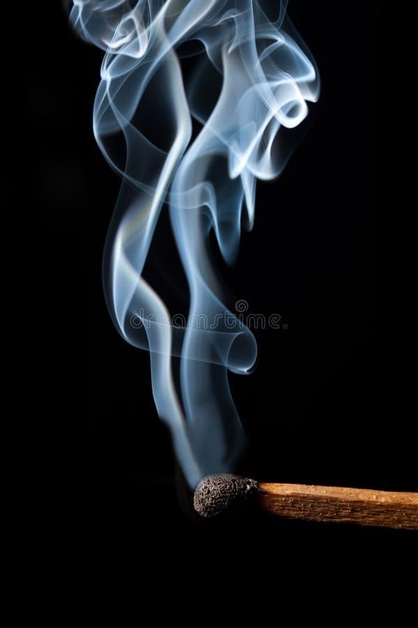 сгорите спичку стоковое фото