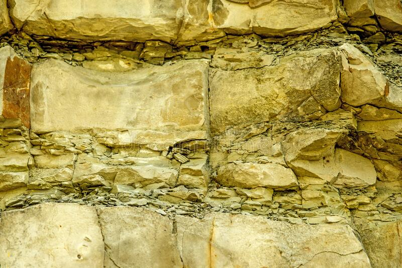 Сдвиги известняка Юра в Свабийском альбе стоковые фотографии rf