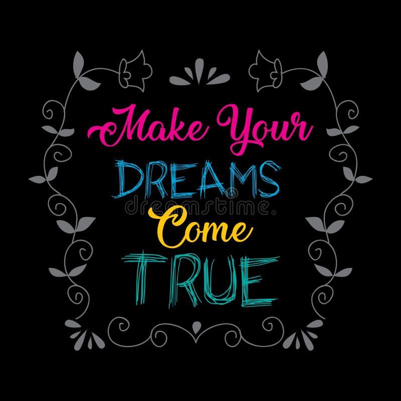 Сделайте ваши мечты прийти верно бесплатная иллюстрация