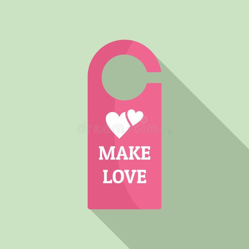 Сделайте значок бирки комнаты влюбленности, плоский стиль бесплатная иллюстрация