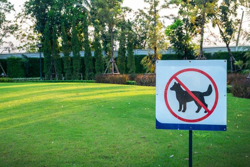 Сделайте не собак позволенных знаку стоковые изображения rf