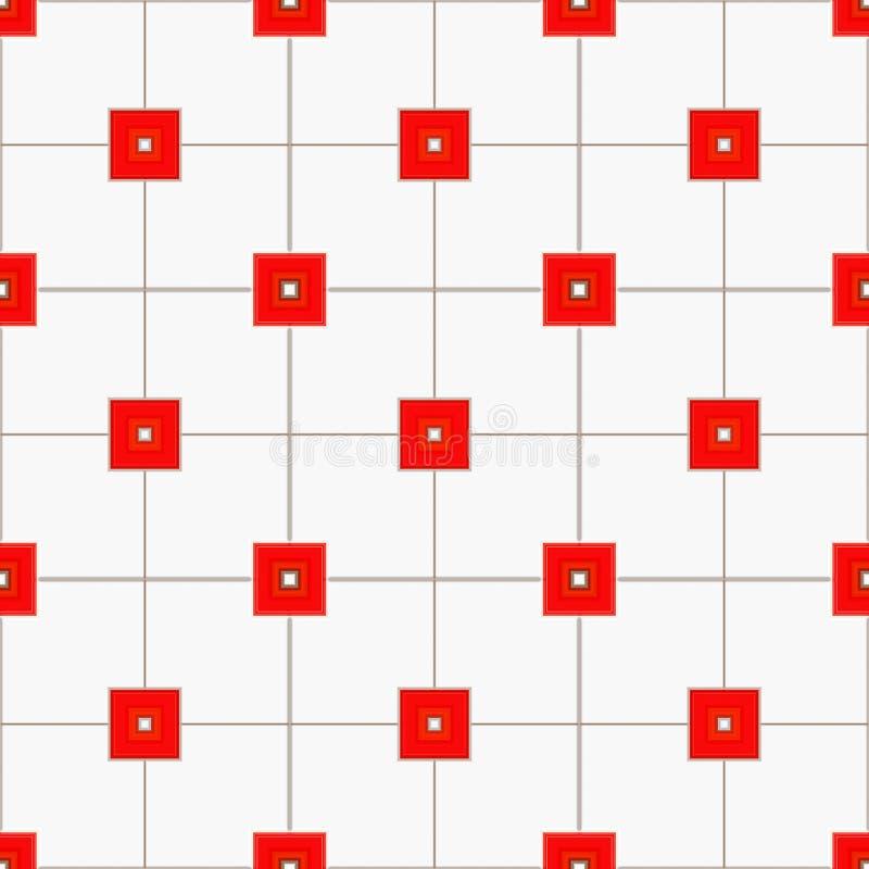 сделайте по образцу красные квадраты иллюстрация штока