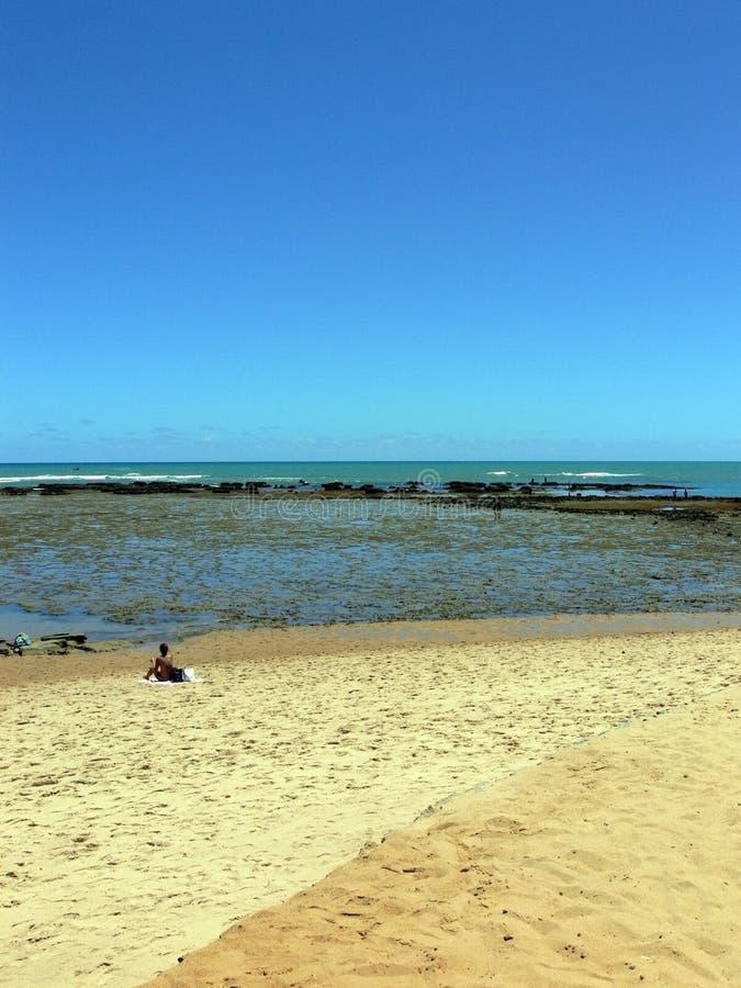 сделайте praia сильной стороны стоковые изображения
