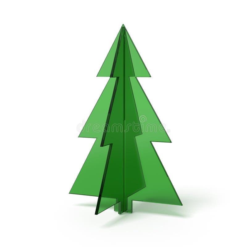 Сделанная рождественская елка?? зеленого стекла бесплатная иллюстрация