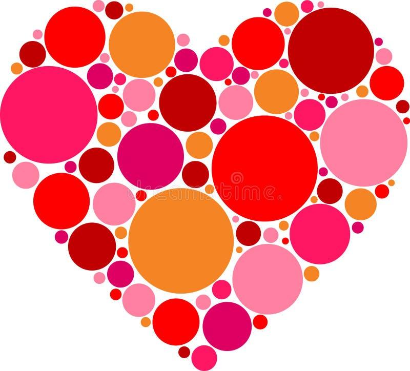 Сделанное по образцу красное сердце иллюстрация штока