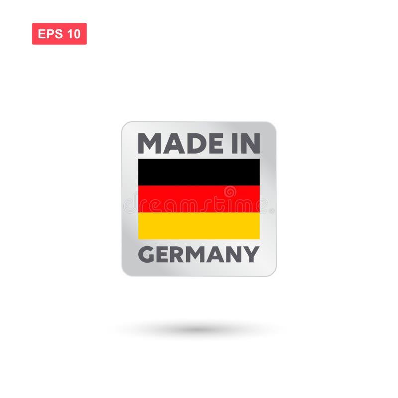 Сделанный в векторе Германии иллюстрация вектора
