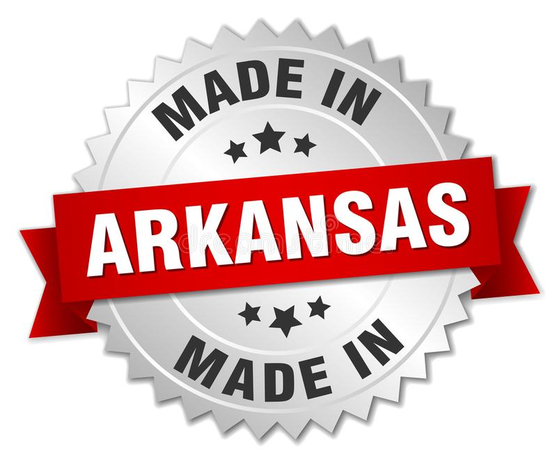 сделанный в значке Арканзаса бесплатная иллюстрация