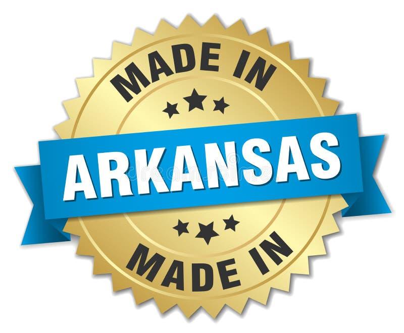 сделанный в значке Арканзаса иллюстрация вектора