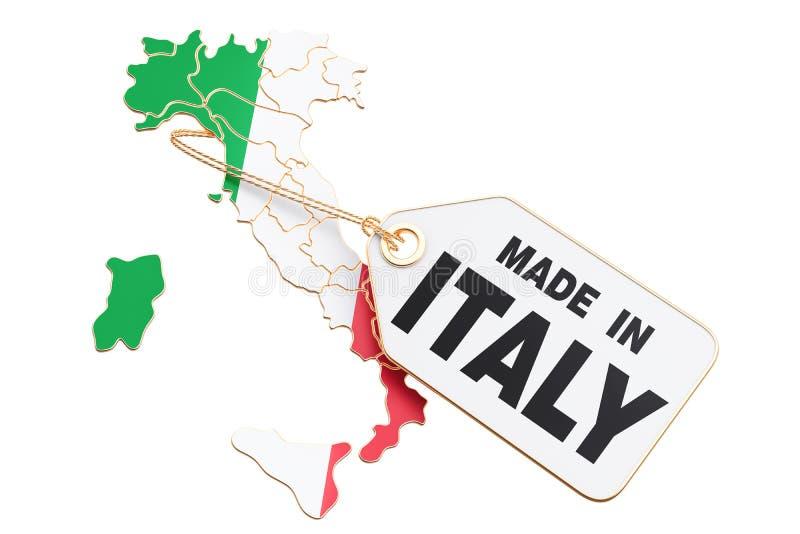 Сделанный в концепции Италии, перевод 3D бесплатная иллюстрация