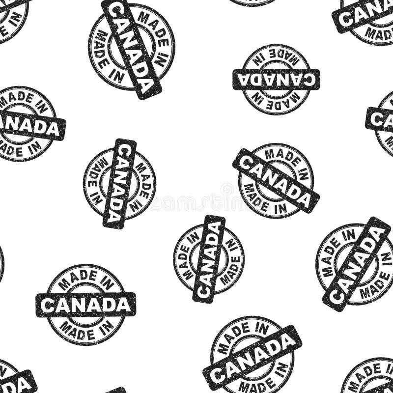 Сделанный в предпосылке картины штемпеля Канады безшовной Бизнес иллюстрация штока