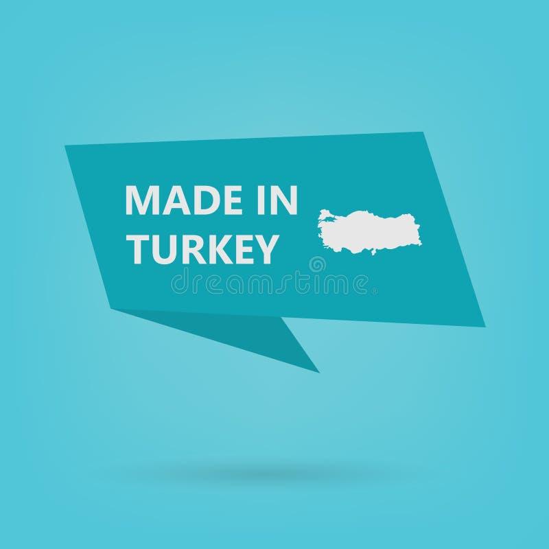 Сделанный в стикере Турции иллюстрация штока