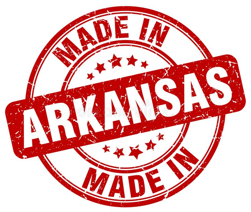 Сделанный в штемпеле Арканзаса бесплатная иллюстрация