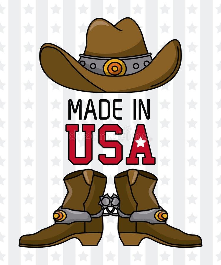 Сделанный в эмблеме США бесплатная иллюстрация