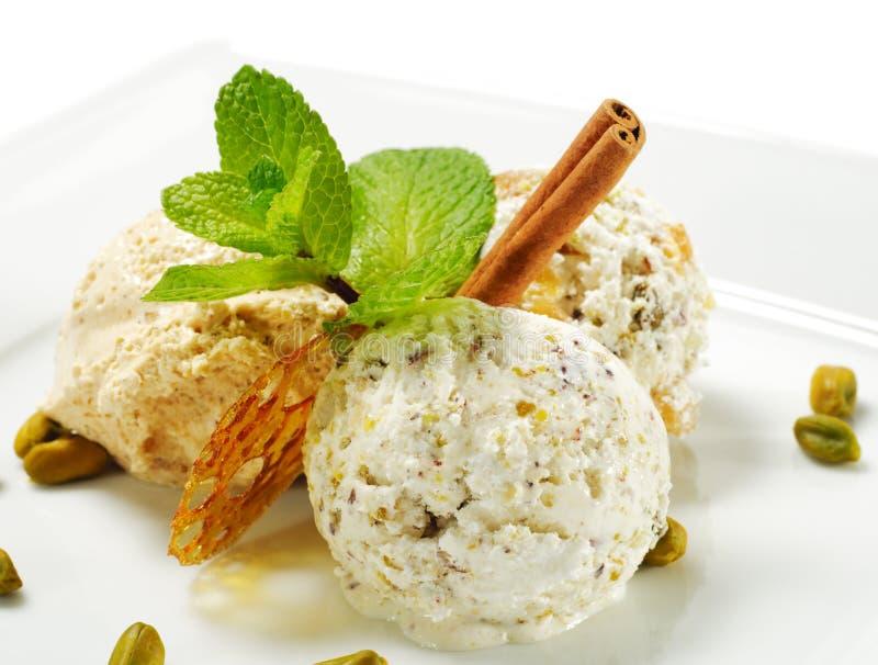 сделанный льдед дома cream десерта стоковая фотография rf