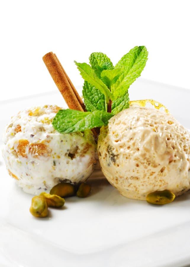 сделанный льдед дома cream десерта стоковое изображение rf