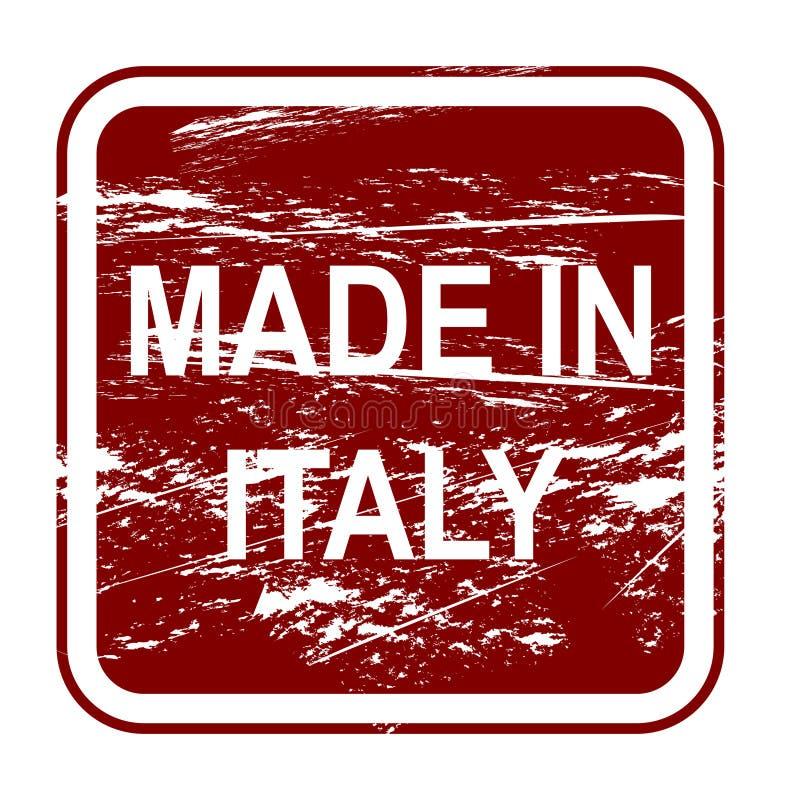 сделано в Италии иллюстрация вектора