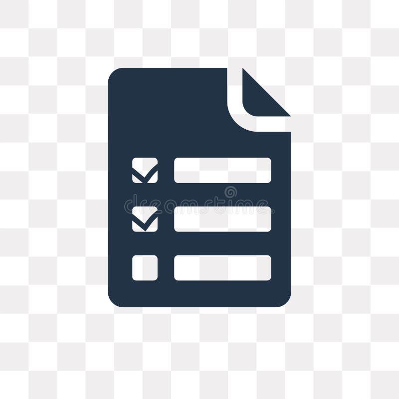 Сделать значок вектора списка изолированный на прозрачной предпосылке, для того чтобы сделать бесплатная иллюстрация