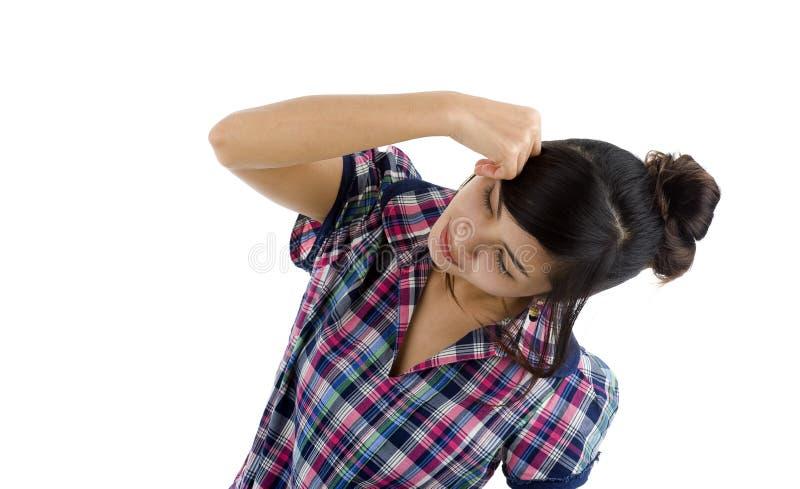 себя ударяя женщина стоковые фотографии rf