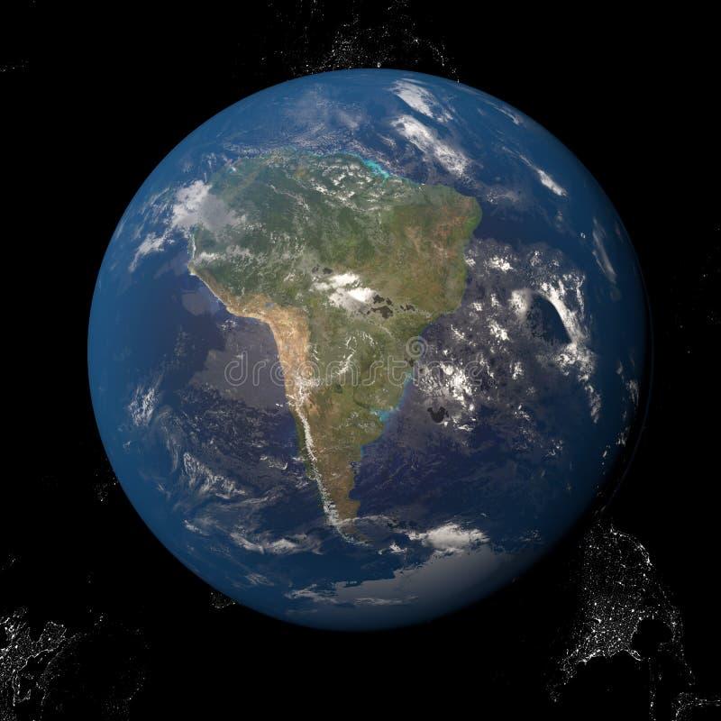 Северная Америка Канада США от космоса бесплатная иллюстрация