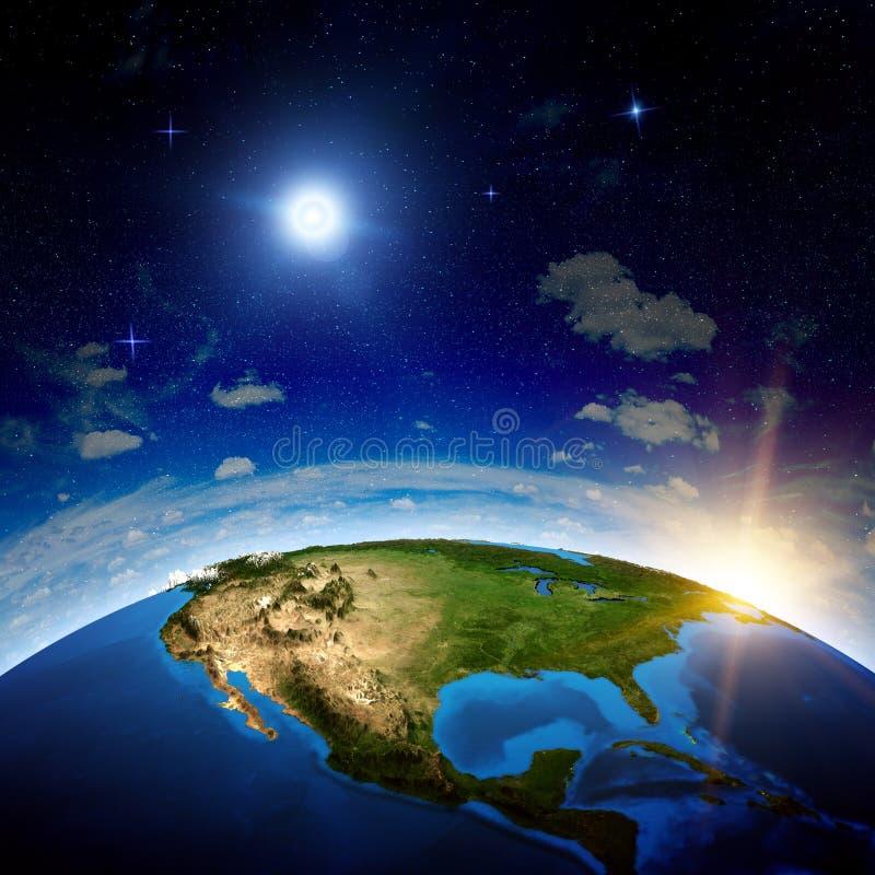 Северная Америка от космоса бесплатная иллюстрация