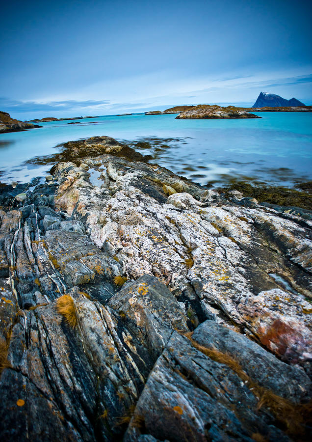 Северная береговая линия Норвегии стоковая фотография