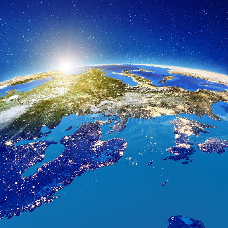 Северная Европа вечером бесплатная иллюстрация