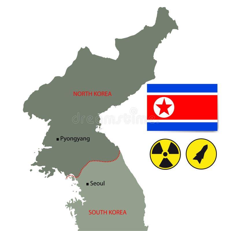 Северная Корея. иллюстрация штока