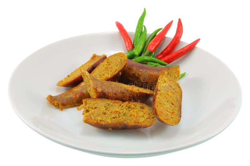 Северная тайская сосиска стоковое изображение