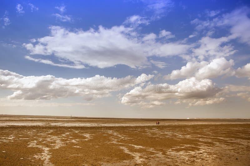 Северное море на заходе солнца стоковые фотографии rf