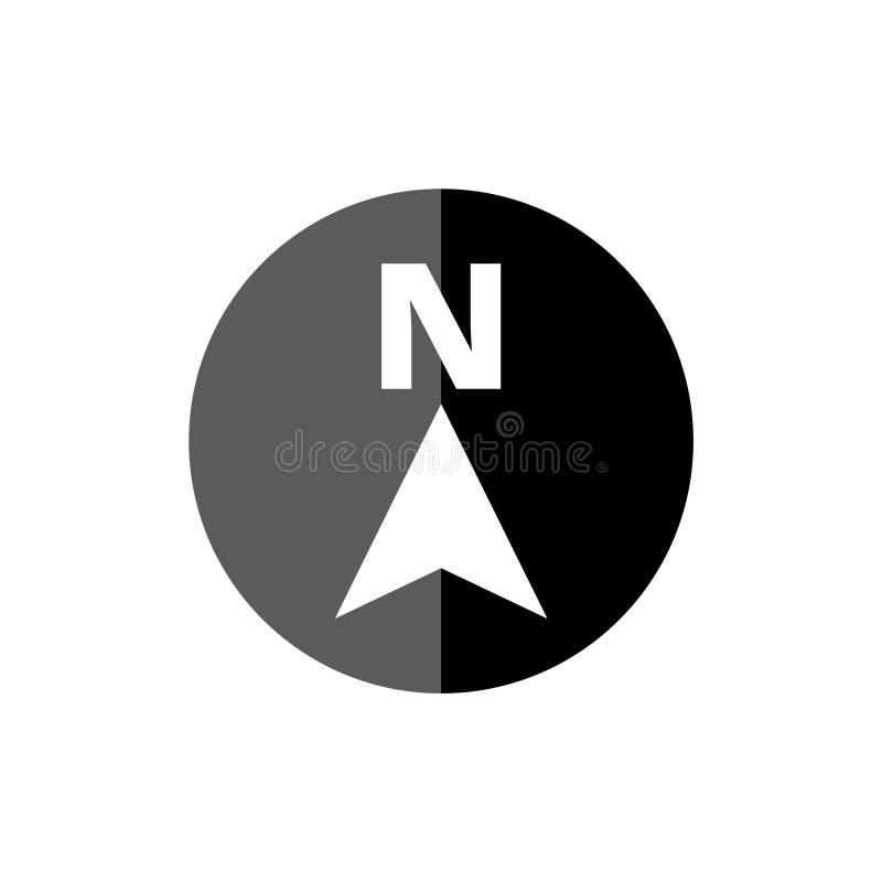 Северное направление n значка стрелки, простой логотип вектора иллюстрация вектора