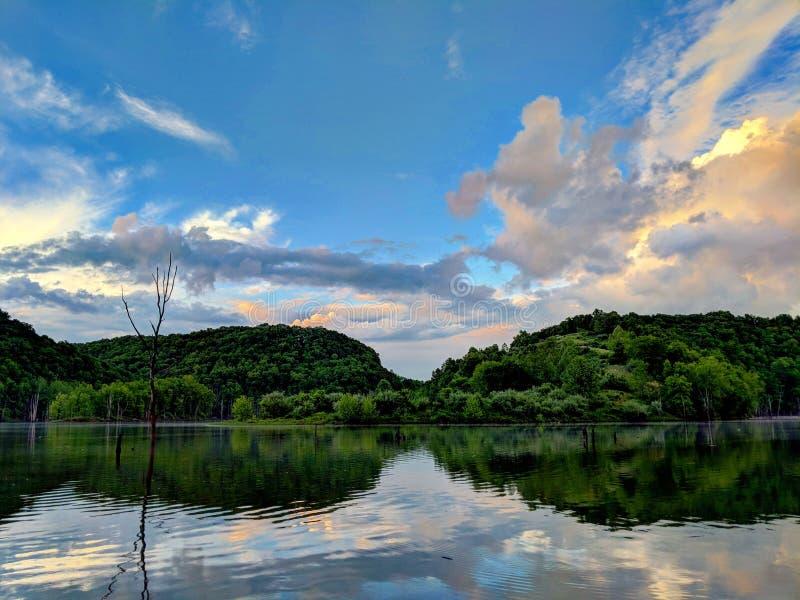 Северное озеро загиба стоковые фото